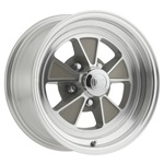 15x7 Legendary GT5 Alloy Wheel, 5 on 4.5 BP, 4.25 BS, Clear Coat/ Machined