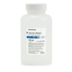 250 mL Bottle Of Sterile Water - Irrigation