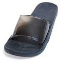 Zendals Courtesy Slipper Spa Sandal, Black-Small