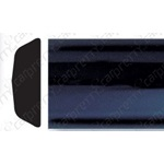 "1"" Black Body Side Molding - Profile 3"