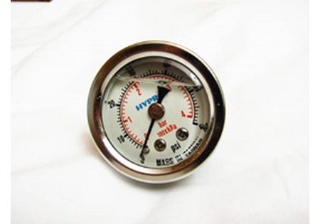 "0-60 PSI Glycerin Filled Air Gauge 1/8"" MPT"