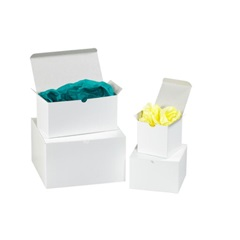 9 X 9 X 5 WHITE 1 PIECE GIFT BOX, 50/CASE