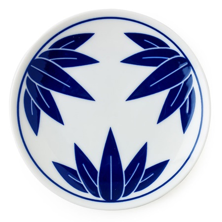 "BLUE & WHITE KISSHYO 4.75"" PLATE - BAMBOO"