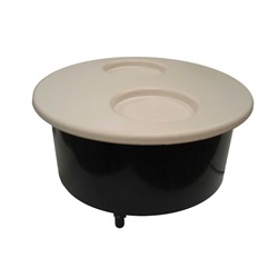 FILTER PART: NICHE  WITH 2-CUP LID AND SCREWS WHITE