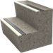 Lume-A-Lite Ribbed Bar Abrasive Stair Tread