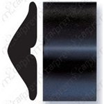 "1 7/8"" Black Embossed Body Side Molding - Profile 2"