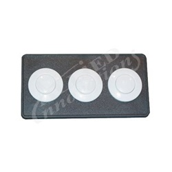 BUTTON DECKPLATE: #15 CLASSIC TOUCH, 3 BUTTON PANEL, BLACK