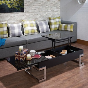 81855 BLACK LIFT TOP COFFEE TABLE