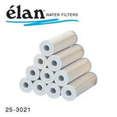 élan™ Filters: 5 Micron Pleated Cartridges with White End (Case of 24)