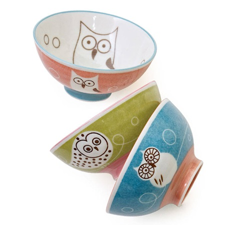 "OWL 4.75"" RICE BOWL SET"