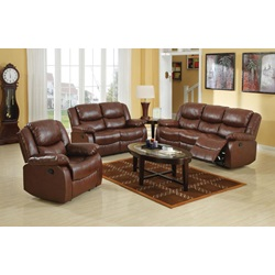 50010 BROWN SOFA W/MOTION
