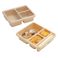 Cambro 9113CW133 Camwear Meal Delivery Tray 3-Compartment