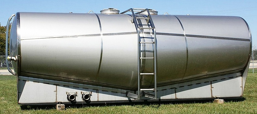 Elliptical Double Conical Stainless Steel Tank