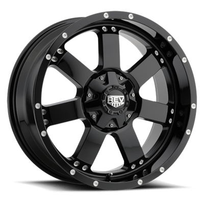 REV Off Road 885 Series 17x9 5x127/5x139.7 - Gloss Black