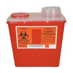 2 Gallon Red Container - Non-Locking Vertical Drop Chimney Lid