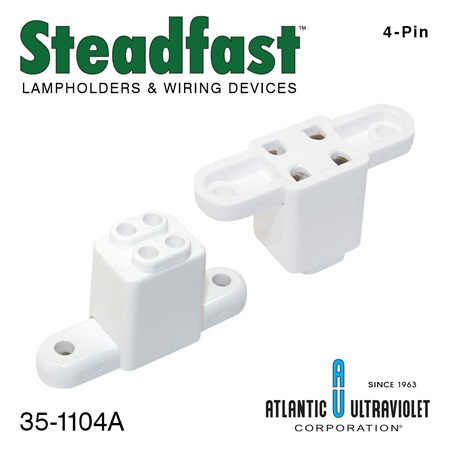 Steadfast 4-Pin Lamp Socket with Mounting Bracket