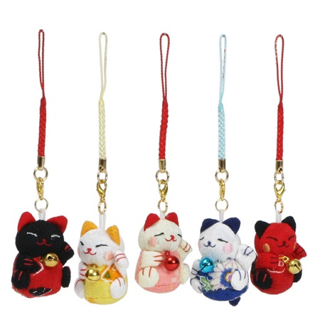 Plush Fortune Cat Charm