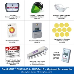 SaniLIGHT DHO18-1S to DHO64-1S Optional Accessories