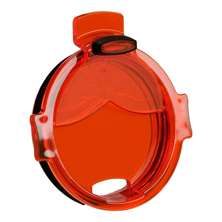 Bright Orange Whale Tail Flip Top Chaser Lid