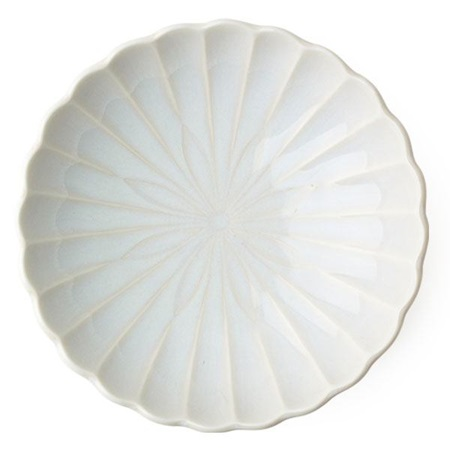 "Kiku 6.5"" Shallow Bowl - White"
