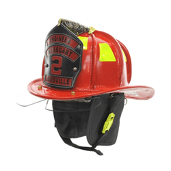 Cairns® N5A New Yorker™ Leather Fire Helmet - Red Large