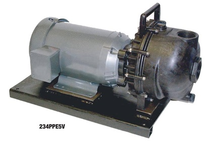 "Banjo 2"" Close Coupled Centrifugal Pump with 5 HP 3 Phase Electric Motor"