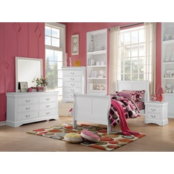 24515T L.P. III WHITE TWIN BED