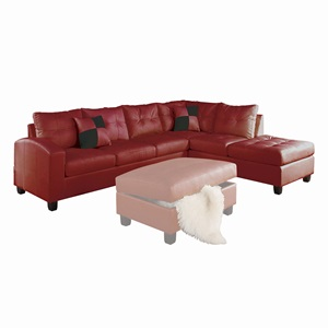 51185_KIT KIVA RED SECTIONAL SOFA
