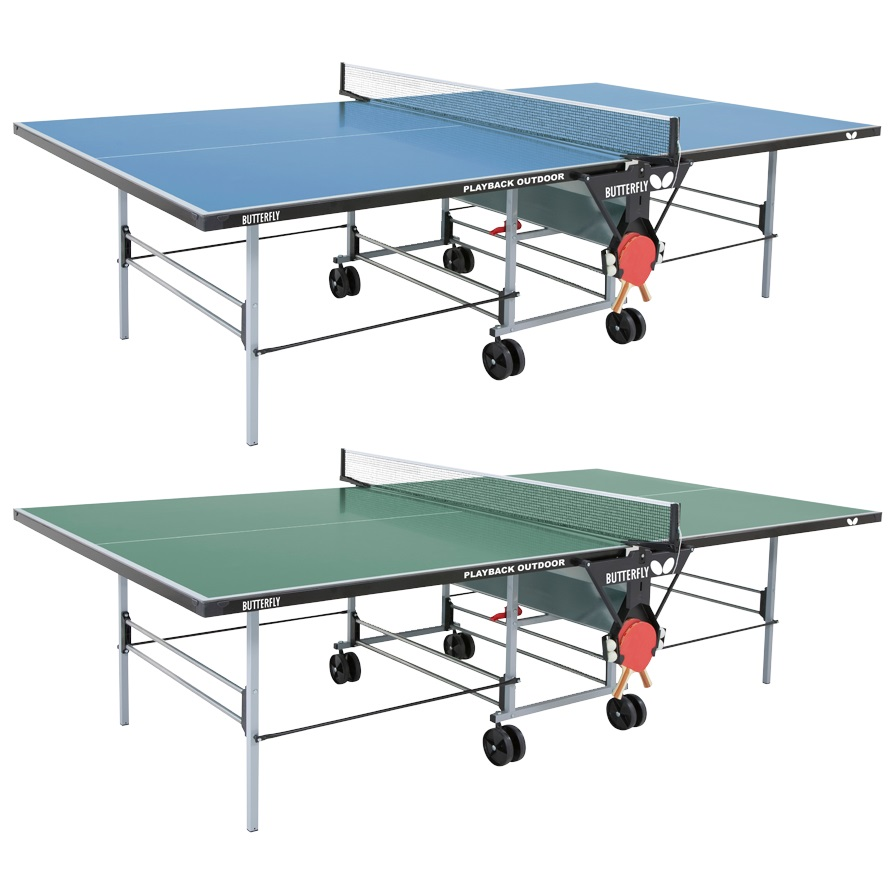 Butterfly Table Tennis - Outdoor Playback Rollaway Table: Durable