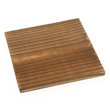 "Coaster Yakisugi Wood 4-1/4"" Sq."