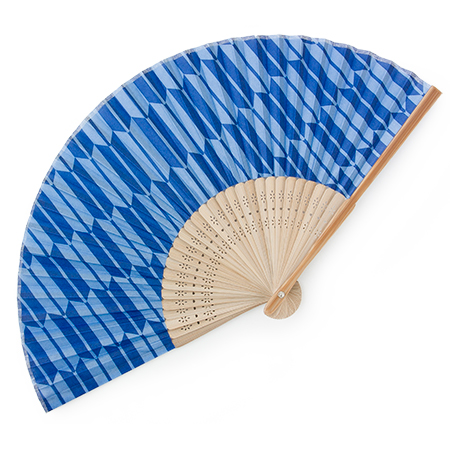 Folding Fan Yabane Blue