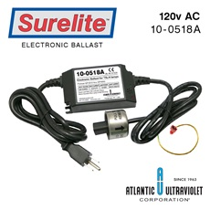 Ballast: 120V 50/60 Hz 10-40W Plug thru w/ Easy/alarm/LED/Tab