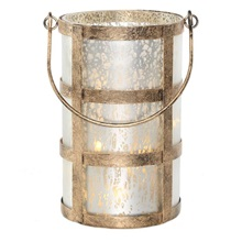 "8""H Caged Jar - Champagne"
