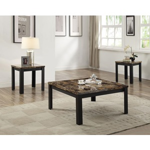 84567 DARK BR. 3PC CO/END TABLE SET
