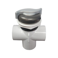 "DIVERTER VALVE: 2"" NOTCHED VERTICAL 2-PORT TOP MOUNT VITA SPA"