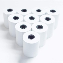 2-1/4 X 85' WHITE THERMAL PAPER ROLL,