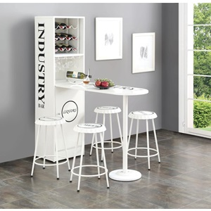 72700 WHITE COUNTER TABLE W/CABINET
