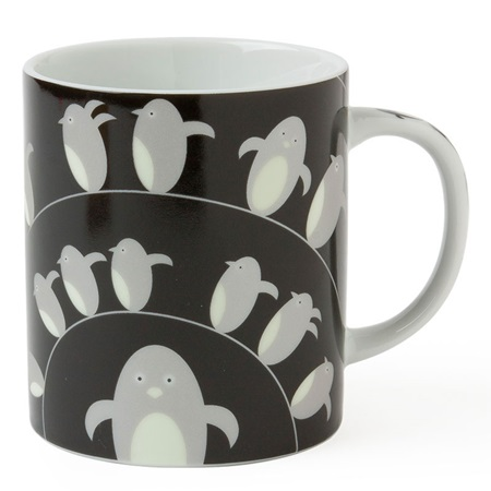 Penguin 8 Oz. Mug - Black