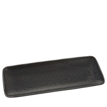 Black Cosmos Rectangle Plate