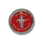 1965-66 Styled Steel Hub Cap (Red)