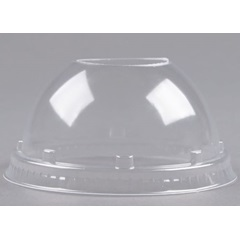 16LCD DART CLEAR PLASTIC DOME LID WITHOUT HOLE, 1000/CS