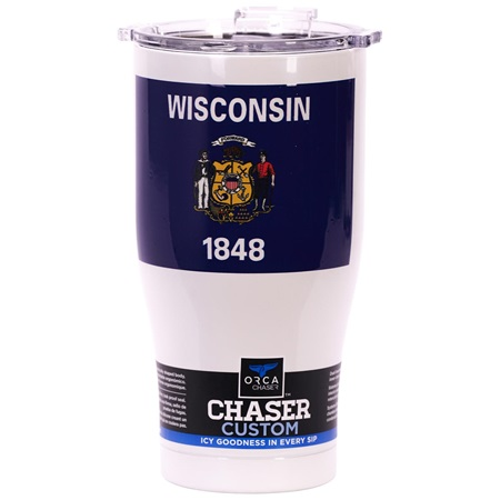 Wisconsin State Flag Chaser 27oz