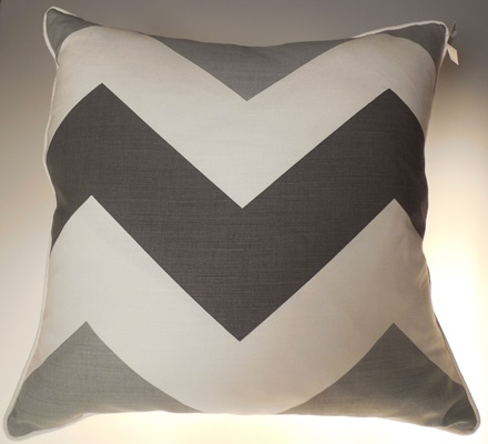 Grey Chevron Pillow