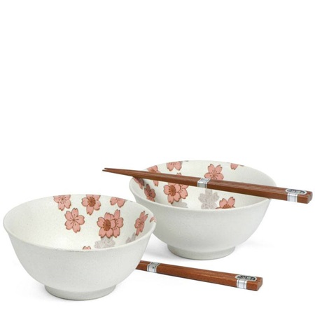 "White Sakura 6"" Bowl For Two Set"