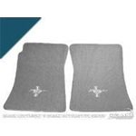 Custom Full-Size Carpet Floor Mats (Dark Blue)