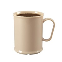 Cook's 10 oz Tan Polycarbonate Mugs