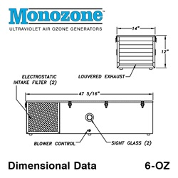 Monozone 6-OZ Dimensional Drawing