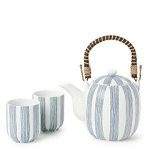 Tea Set Obi Stripe Blue