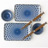 BLUE & WHITE SNOW SUSHI SET