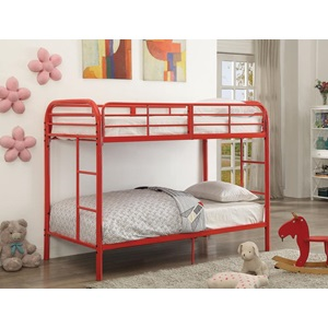 02178RD RED TWIN/TWIN BUNK BED
